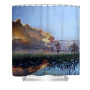 Sunset At Pine Glades Shower Curtain
