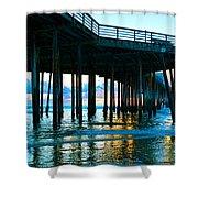 Sunset At Pismo Beach Pier Shower Curtain