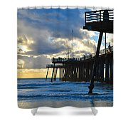 Sunset At Pismo Pier Shower Curtain