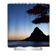 Sunset At Pokai Bay Shower Curtain