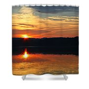 Sunset At Princess Point Shower Curtain