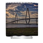 Sunset At Ravenel Bridge Shower Curtain