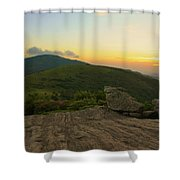 Sunset At Roan Mountain Shower Curtain