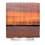 Sunset At Rock Hall, Md Shower Curtain
