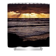 Sunset At Ruby Beach Shower Curtain
