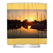 Sunset At Sailors Cove Shower Curtain