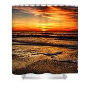 Sunset At Saint Petersburg Beach Shower Curtain