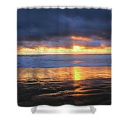 Sunset At Salt Creek Shower Curtain