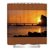 Sunset At Sarasota Bayfront Park Shower Curtain