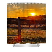 Sunset At Scartaglen Ireland Shower Curtain