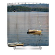 Sunset At Schroon Lake Shower Curtain