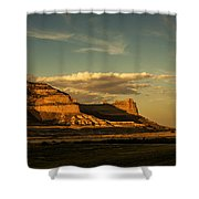 Sunset At Scotts Bluff National Monument Shower Curtain