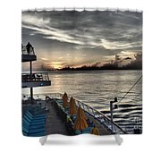 Sunset At Sea II Shower Curtain
