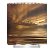 Sunset At Sea Shower Curtain