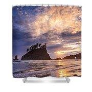 Sunset At Second Beach Shower Curtain