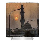 Sunset At Seeb Shower Curtain