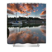 Sunset At Sellwood Riverfront Park Shower Curtain