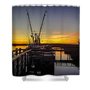 Sunset At Skippers Fish Camp Shower Curtain