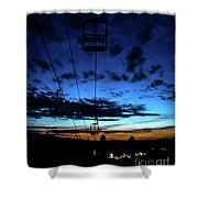 Sunset At Smugglers' Notch, Vermont - Portrait Shower Curtain