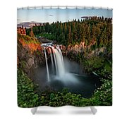 Sunset At Snoqualmie Falls Shower Curtain
