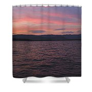 Sunset At Squam Lake New Hampshire Shower Curtain
