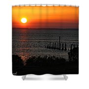 Sunset At St.marks Nwf Shower Curtain