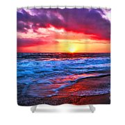 Sunset At Strands Beach Shower Curtain
