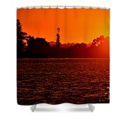 Sunset At Swan River II Shower Curtain