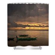Sunset At Tabuena Beach 1 Shower Curtain