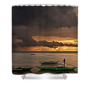 Sunset At Tabuena Beach 2 Shower Curtain
