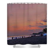 Sunset At The Beach - El Salvador Shower Curtain