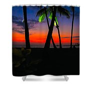 Sunset At The Big Island Of Hawaii Shower Curtain