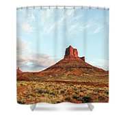 Sunset At The Castleton Tower Shower Curtain