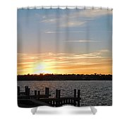 Sunset At The Causeway Shower Curtain