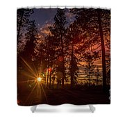 Sunset At The End Of The Hike Shower Curtain