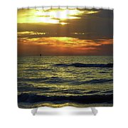 Sunset At The Gulf Shower Curtain
