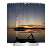 Sunset At The Gulf Of Bothnia  Shower Curtain