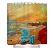 Sunset At The Jetty Shower Curtain