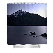 Sunset At The Lake Shower Curtain
