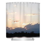 Sunset At The Lake3 Shower Curtain