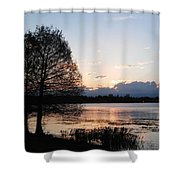 Sunset At The Lake4 Shower Curtain