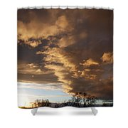 Sunset At The New Mexico State Capital Shower Curtain