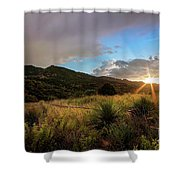 Sunset At The Old Divide Shower Curtain