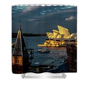 Sunset At The Opera  Shower Curtain