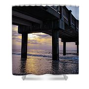 Sunset At The Pier Shower Curtain