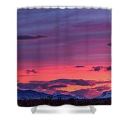 Sunset At The Ranch #2 - Patagonia Shower Curtain