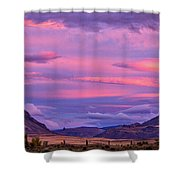 Sunset At The Ranch - Patagonia Shower Curtain