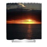 Sunset At The Santa Cruz Wharf Shower Curtain