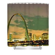 Sunset At The St. Louis Arch  Shower Curtain