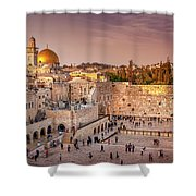 Sunset At The Wall Shower Curtain